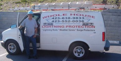 whole house lightning protection van and owner